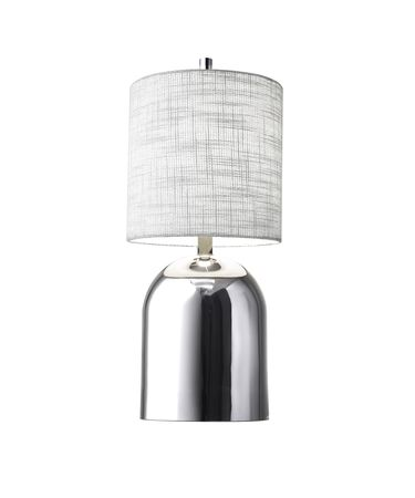 Shown in Chrome finish and White Textured Fabric shade