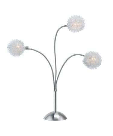 Shown in Satin Steel finish and Wire Pompom shade