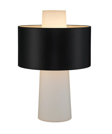 Shown in Black finish, Frosted glass and Metal shade