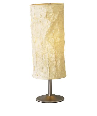 Shown in Natural finish and Soft Woven Paper shade
