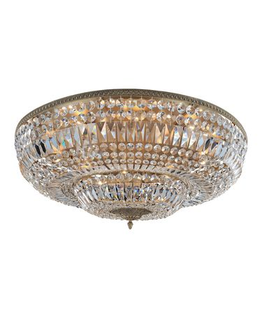 Shown in Antique Gold finish and Firenze Clear crystal