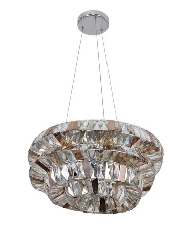Shown in Polished Chrome finish and Firenze Mixed crystal