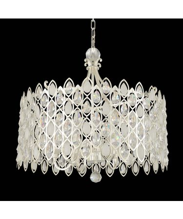 Shown in 2-Tone Silver finish and Firenze Clear crystal
