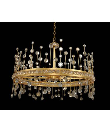 Shown in Vienna Gold Leaf finish and Firenze Clear crystal