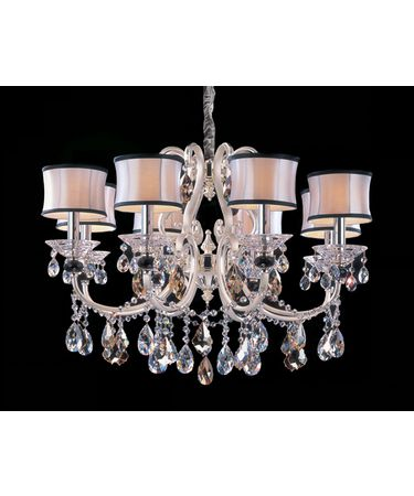 Shown in Two-Rone Silver finish and Firenze Mixed crystal