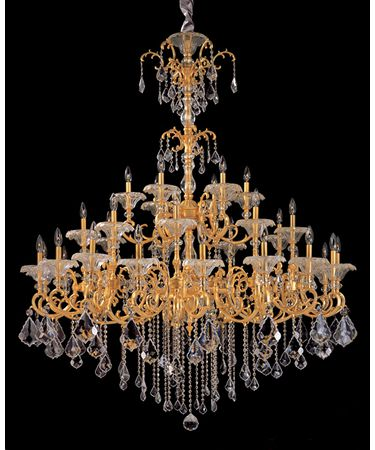 Shown in French Gold-24K finish and Firenze Clear crystal
