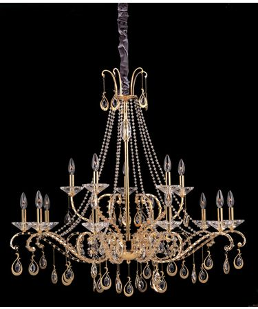 Shown in Gold finish and Firenze Clear crystal