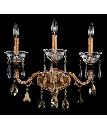 Shown In Aged Bronze and Golden Teak Crystal