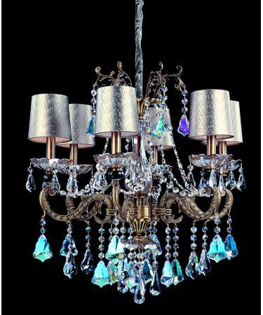 Shown in Aged Bronze finish and Firenze Clear crystal