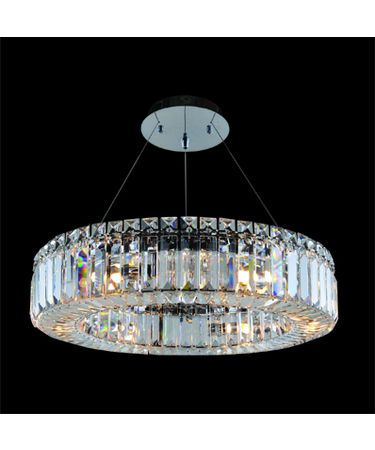 Shown in Polished Chrome finish and Firenze Clear crystal