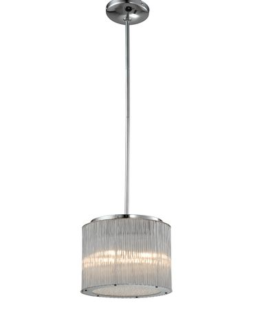 Shown in Polished Chrome finish and Faceted Rods glass