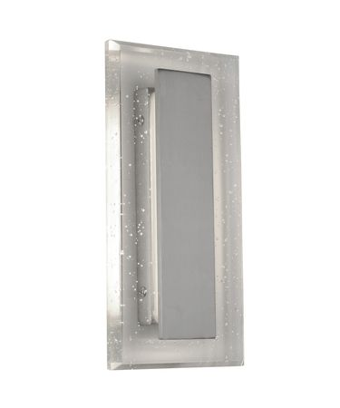 Shown in Satin Nickel finish and Seedy crystal