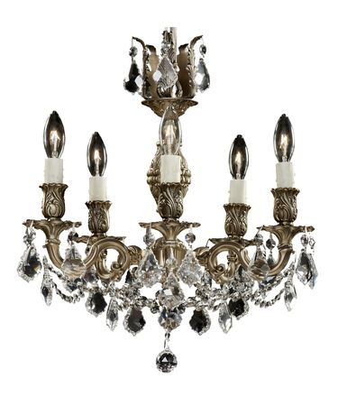 Shown in Antique Black Glossy finish, Clear Precision Pendalogue crystal and Pale Ivory Wax Candle Cover accent