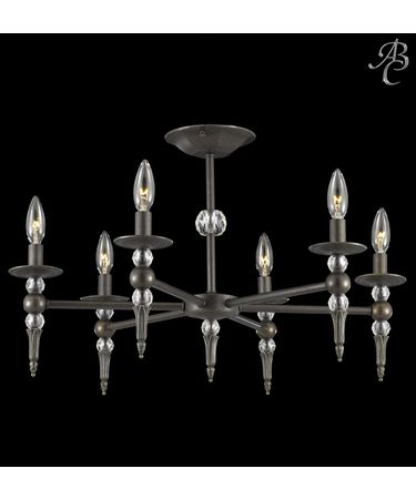 Shown in Polished Nickel finish and 30% Lead Clear Cut Crystal accent