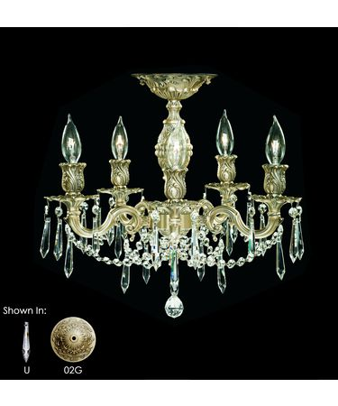 Shown in Antique Black Glossy finish with Clear Precision U-Drop crystal and
