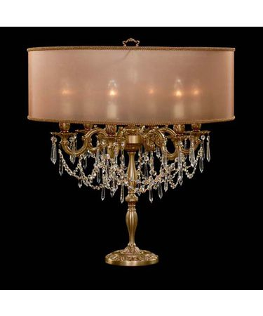 Shown in French Gold Glossy finish with Clear Precision U-Drop crystal and Dark Copper shade