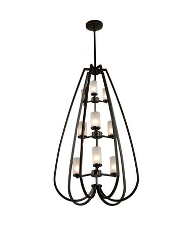 Shown in Oil Rubbed Bronze finish and Off-White glass