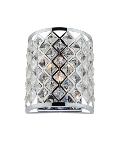 Shown in Chrome finish and Diamond Shaped crystal
