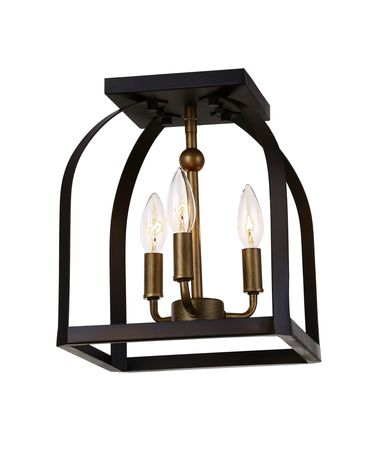 Shown in Oil Rubbed Bronze - Antique Gold finish