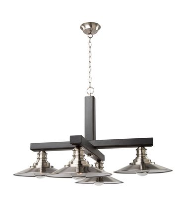 Shown in Dark Wood - Brushed Nickel finish