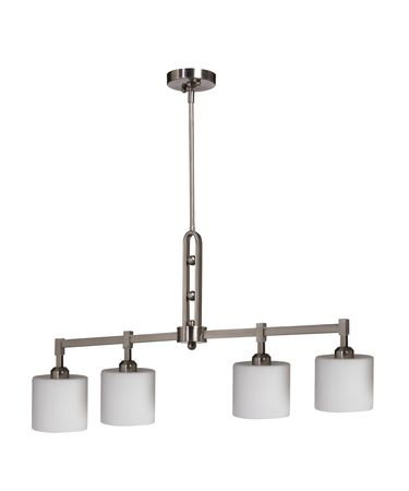 Shown in Brushed Nickel finish, Oval - Opal and Ribbed glass and Mesh Metal Chrome shade