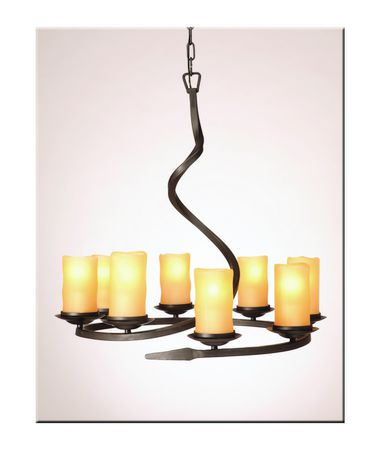 Shown in Oil Rubbed Bronze finish, Amber glass and Fabric Pleated shade