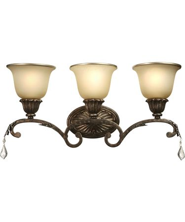 Shown in Bronze finish and Caramelized and Gold Trim glass