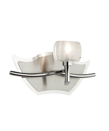 Shown in Chrome finish and Clear and Frosted glass