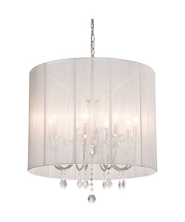 Shown in Polished Nickel finish, Black Hard Back Fabric shade and Crystal Bobeche accent