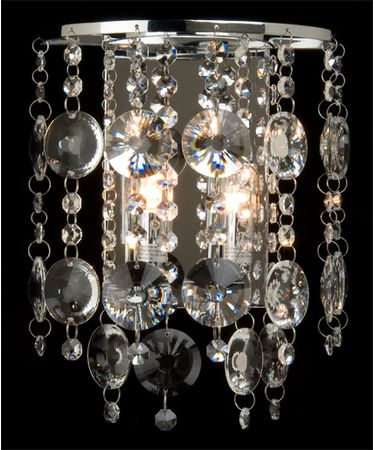 Shown in Satin Nickel finish and Egyptian crystal