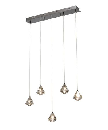 Shown in Brushed Nickel finish and Diamond Cut Crystal crystal