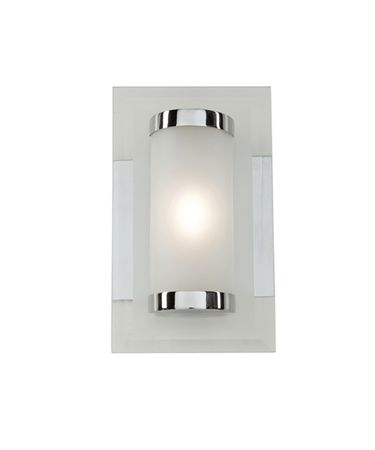 Shown in Chrome finish and White glass
