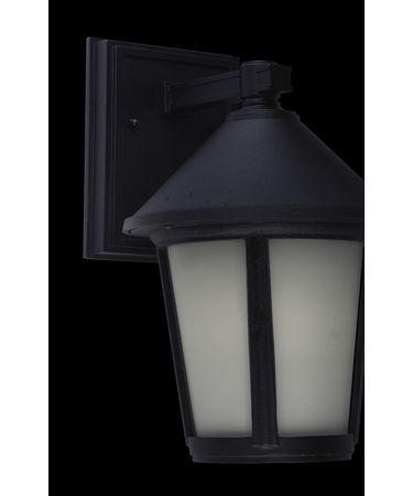 Shown in Black finish and Frosted glass