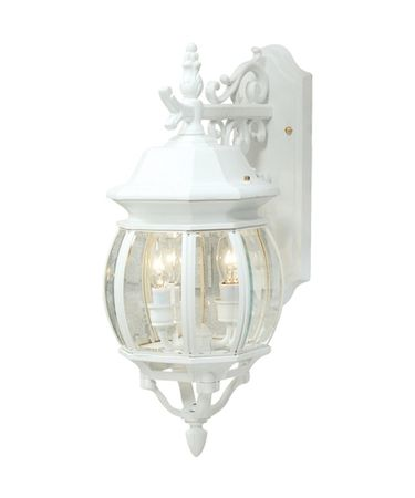 Shown in White finish and Clear glass