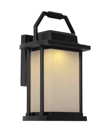 Shown in Black finish and White Linen glass