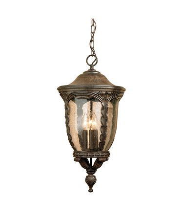 Shown in Antique Acorn finish and Seeded glass