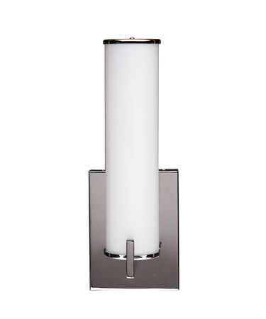 Shown in Chrome finish and Etched White glass