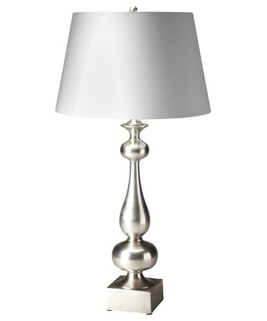 Shown in Antique Silver finish and Cotton shade