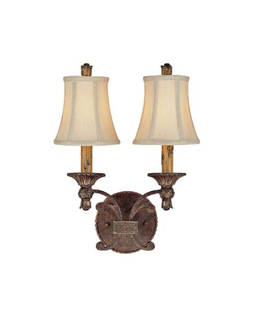 Shown in Crusted Umber finish and Fabric shade