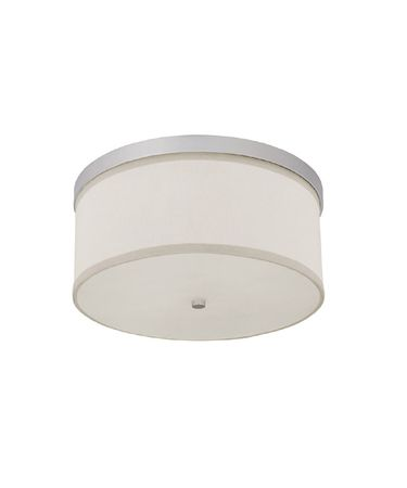 Shown in Matte Nickel finish, Frosted Diffuser With Finial glass and White Fabric shade