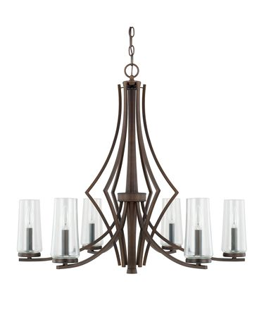 Shown in Burnished Bronze finish and Clear glass