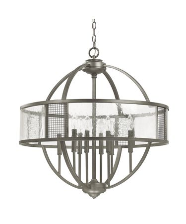 Shown in Graphite finish and Antique glass