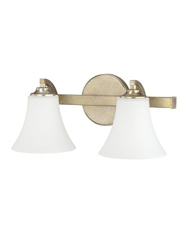 Shown in Winter Gold finish and Soft White glass