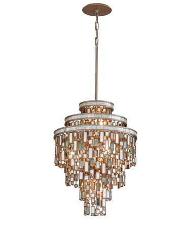 Shown in Dolcetti Silver finish and Mixed Shells with Crystal and Stainless Accents accent