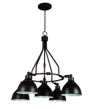 Shown in Aged Bronze finish and Hammered Metal shade