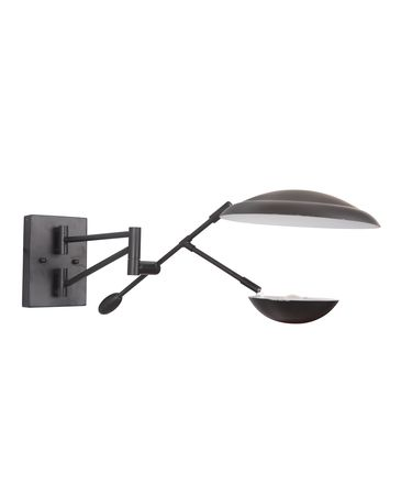 Shown in Flat Black finish and Metal shade