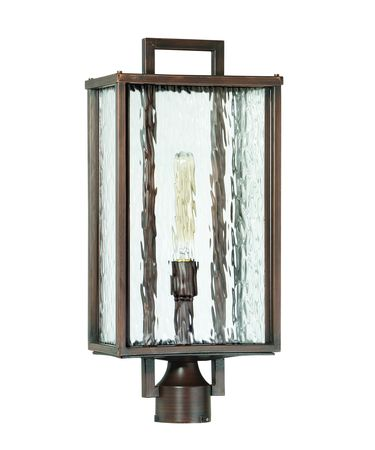 Shown in Aged Bronze Brushed finish and Clear Water glass