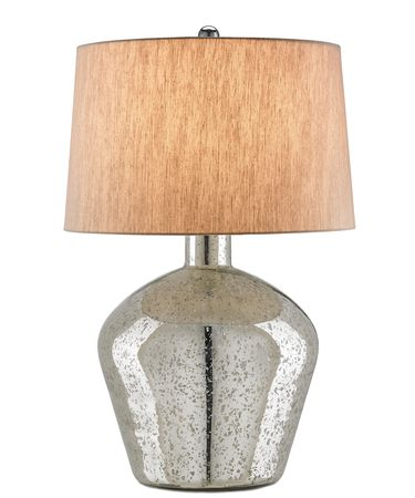 Shown in Antique Silver finish and Oatmeal Linen shade