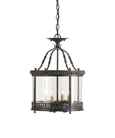 Shown in French Black finish and Vintage glass