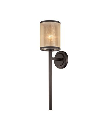 Shown in Oil Rubbed Bronze finish and Beige Organza glass